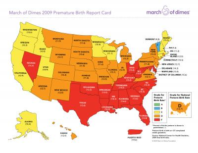 US gets D on the March of Dimes Premature Birth Report Card