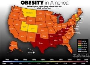 Obesity Map Of The United States