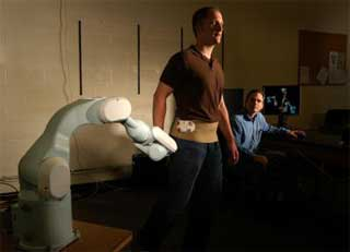 A Robot That Follows Patients As They Move